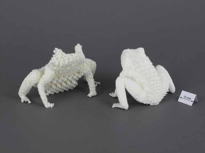 3D printed frogs by Creative Tools